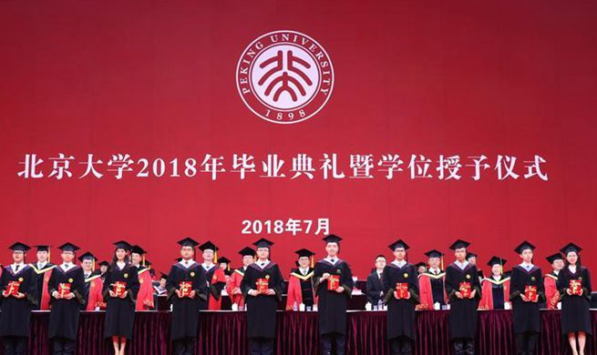 Commencement ceremony of Peking University held in Beijing