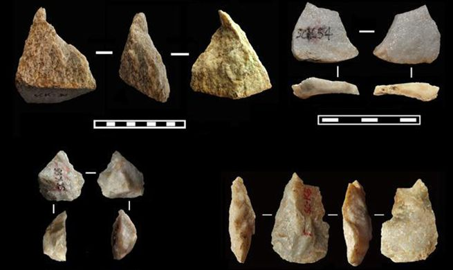 Archaeologists discover ancient tools in Lantian County, NW China