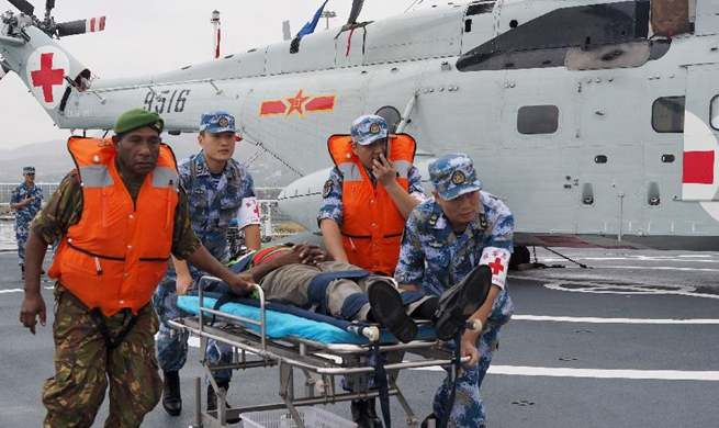 Feature: Joint emergency medical rescue drill marks high point of Chinese naval hospital ship's PNG mission