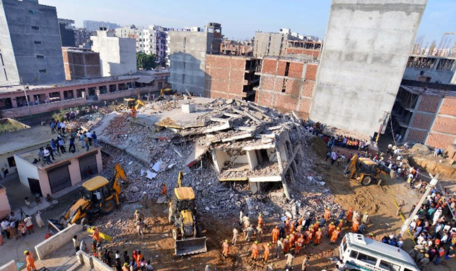 3 die in building collapse near Indian capital