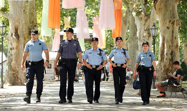 Chinese, Croatian police officers patrol together in Zagreb