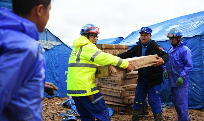 Disaster relief work underway in NW China's Gansu