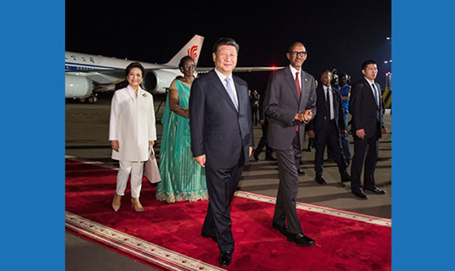 Chinese president arrives in Rwanda for state visit