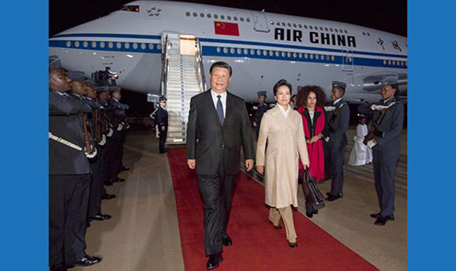 Chinese president arrives in South Africa for state visit
