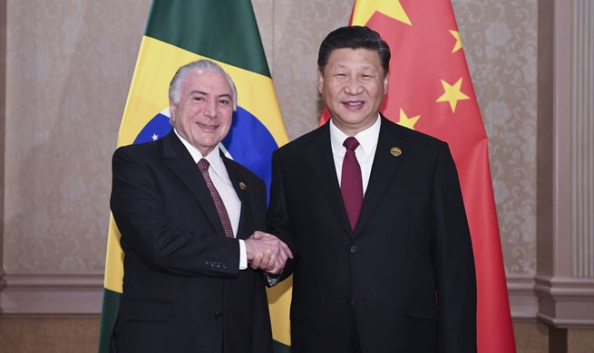 Xi meets Brazilian president, calling for more solidarity, coordination