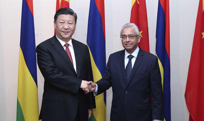 Xi meets Mauritian PM on bilateral ties