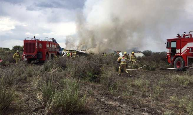 Aeromexico plane crashes in north-central Mexico with no fatalities
