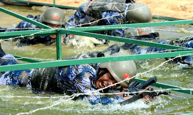 """Seaborne Assault"" survival trail event started in east China's Quanzhou"