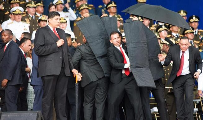Venezuelan President Maduro's speech abruptly cut short