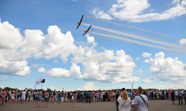 Wings Over Baltics Air Show held in Tukums, Latvia