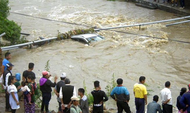 In pics: torrential rains in Lalitpur, Nepal