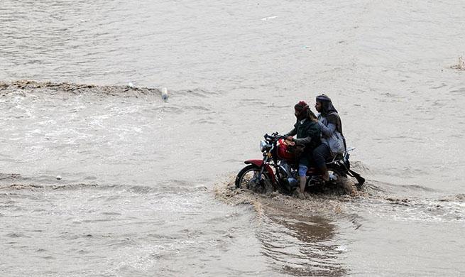 Heavy rain hits Sanaa, Yemen