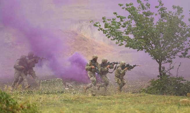 Multinational military drill held at Vaziani base near Tbilisi, Georgia