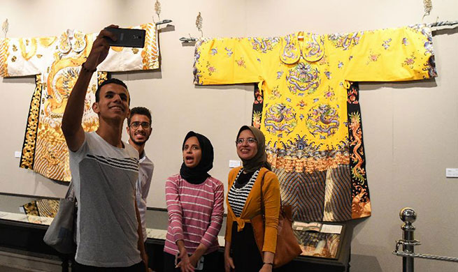 Feature: Shanghai's exhibition in Alexandria inspires Egyptian understanding about Chinese culture