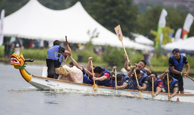 28th annual Hong Kong Dragon Boat Festival held in New York