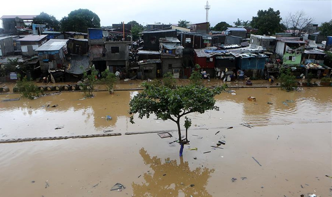 Aftermaths of typhoon Yagi in Marikina City, the Philippines