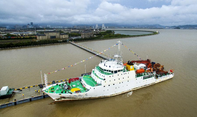 Chinese research ship completes 49th ocean expedition