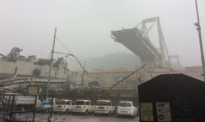 At least 22 people die in collapse of major motorway bridge in Italy's Genoa