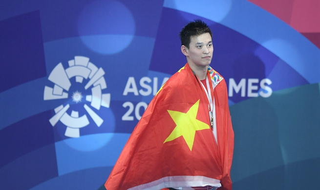 Sun Yang retains 1500m freestyle title in Asian Games