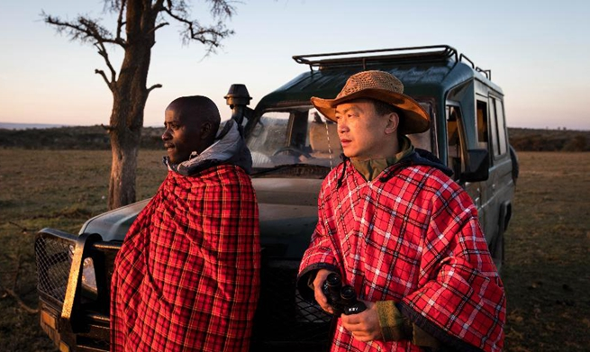 In pics: Chinese wildlife conservationist in Maasai Mara, Kenya