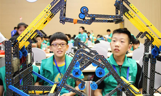 VEX robotics competition kicks off in Suzhou, east China's Jiangsu
