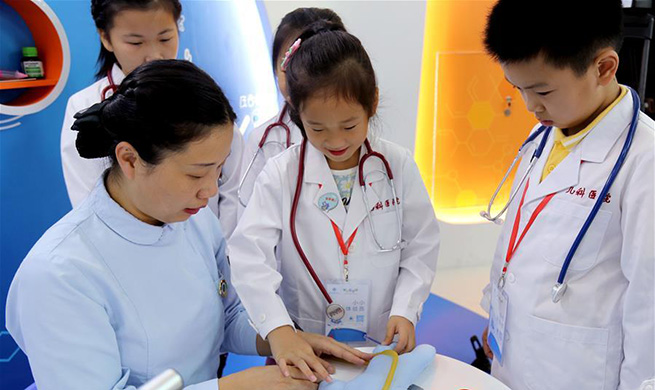 Medical experience museum free to children opens in E China's Shanghai