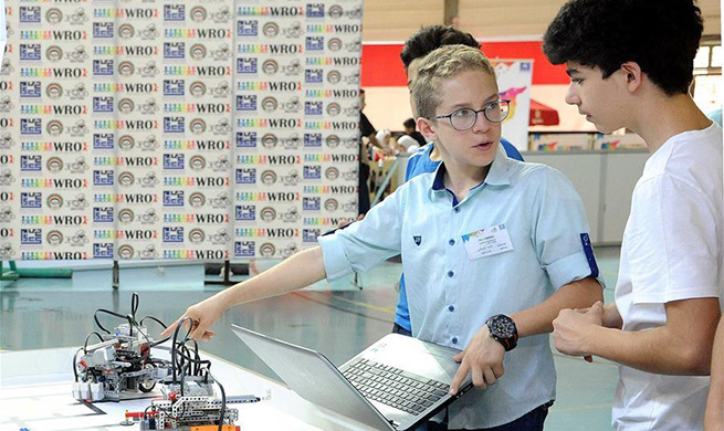 In pics: national qualification match for 2018 World Robot Olympiad in Syria