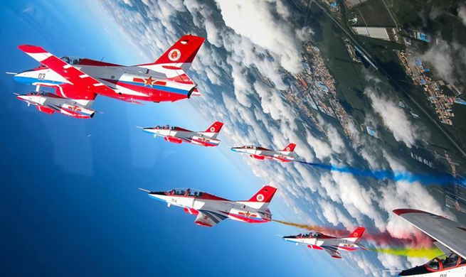 Stunning performance seen in opening day activity at China's Aviation University of Air Forces