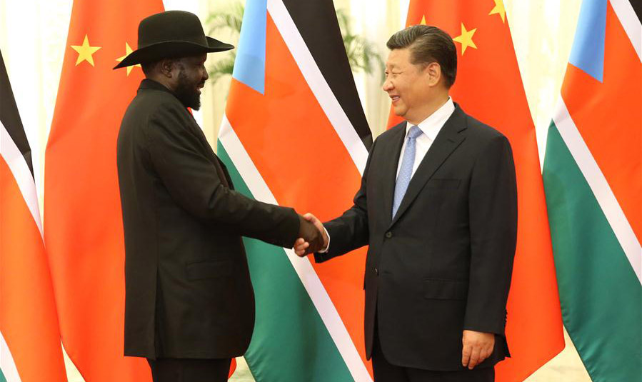 Xi meets South Sudanese president