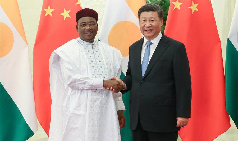 Xi meets Nigerien President Mahamadou Issoufou