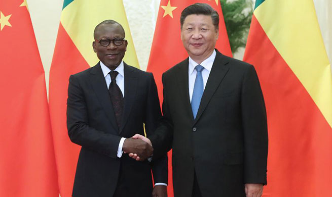 Xi meets Beninese president