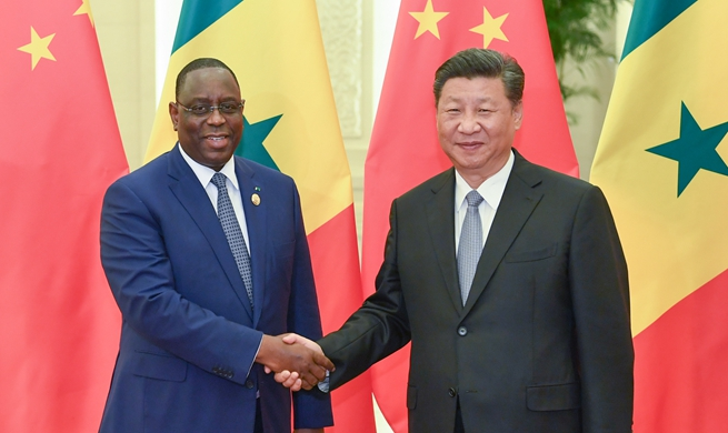 Xi meets Senegalese president