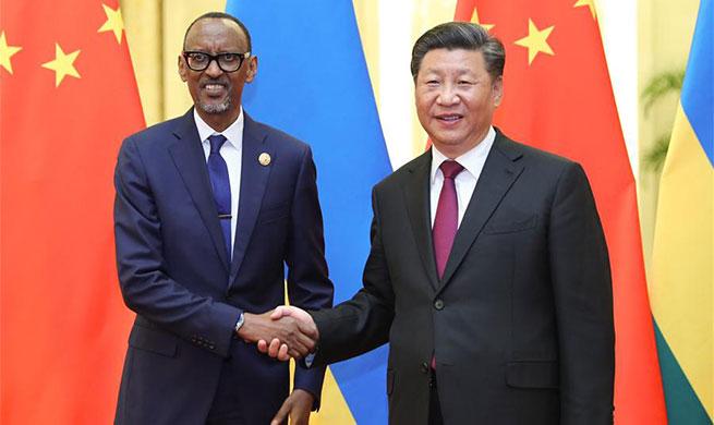 Xi meets Rwandan president