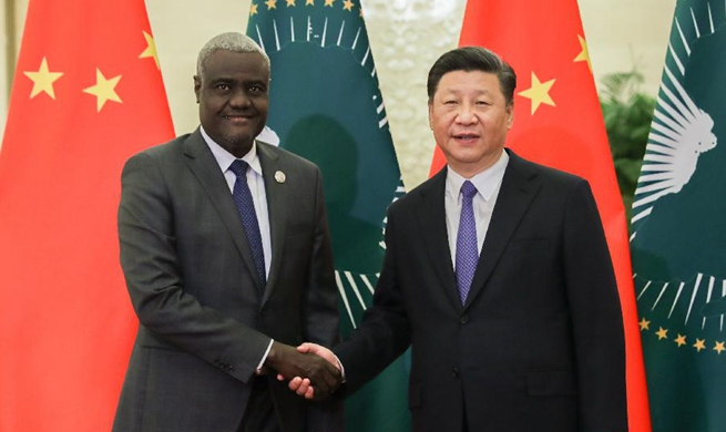 Xi meets chairperson of AU Commission