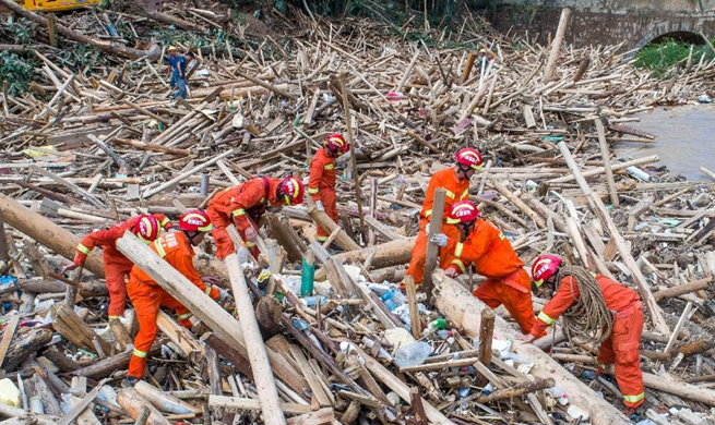 Communications, electricity, water supplies repaired in flood-hit Mengdong Township, SW China