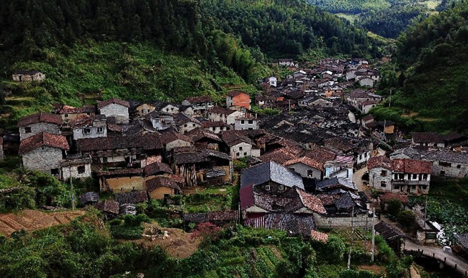 Hengkeng Village in China's Fujian features traditional architectures