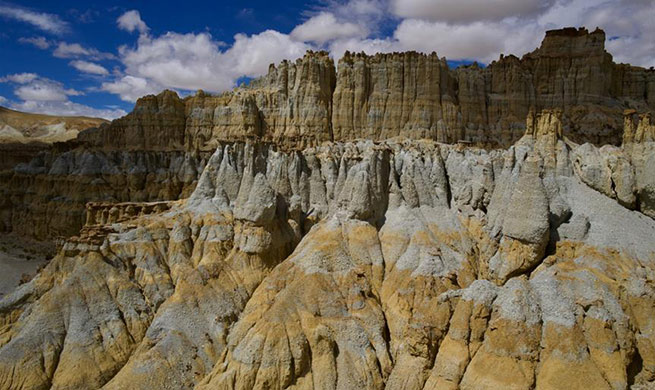 Scenery of Xiayigou Earth Forest in SW China's Tibet