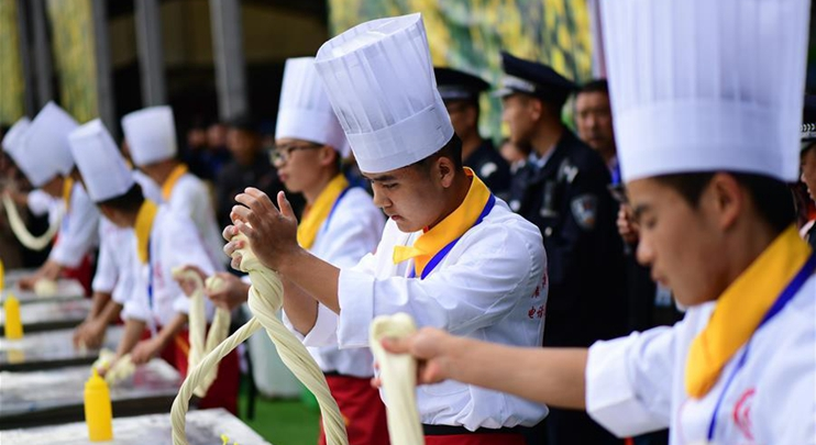 Cooking contest held in China's Qinghai