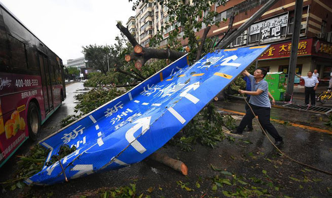 Disaster relief work underway in S China after typhoon Mangkhut