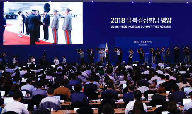 Top DPRK leader Kim greets South Korea's Moon at airport
