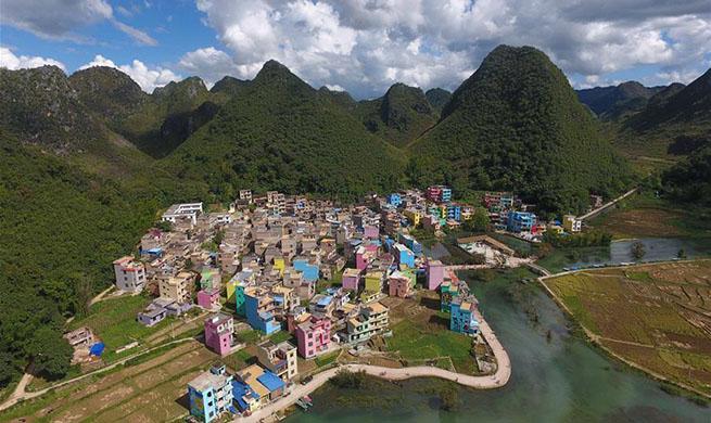 Scenery of Heye Village in SW China's Yunnan