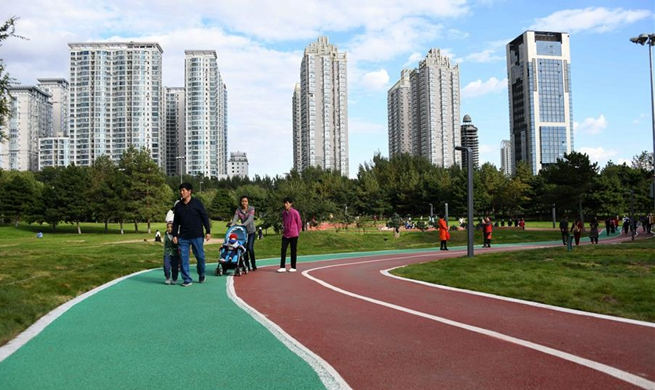 Xiangjiang Park opens to public for free in NE China's Heilongjiang