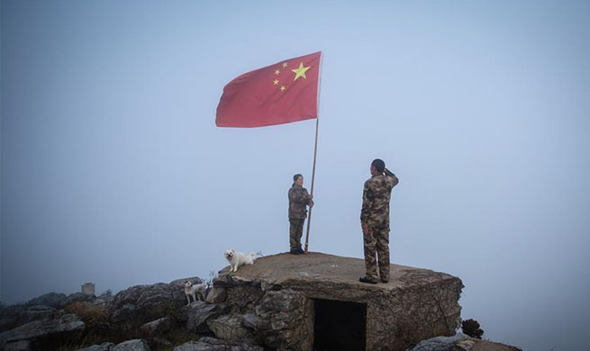 In pics: frontier defence policeman in east China's Jiangsu