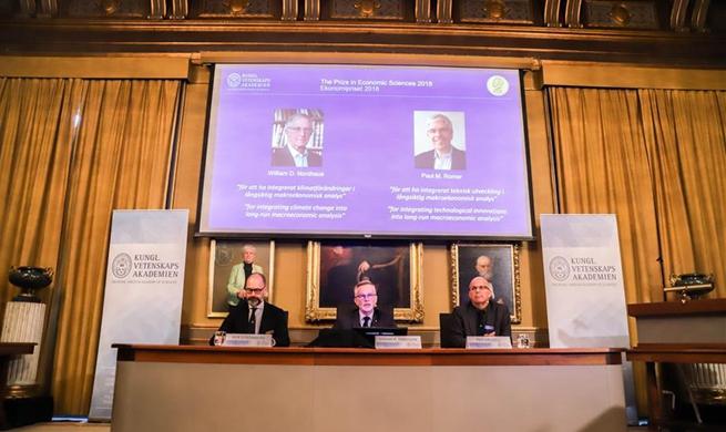 Two American economists share 2018 Nobel Prize in Economics