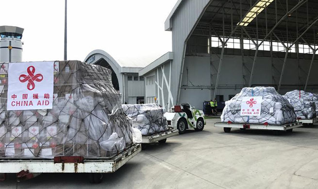 First batch of China's humanitarian aid for Indonesia's quake-hit victims arrives