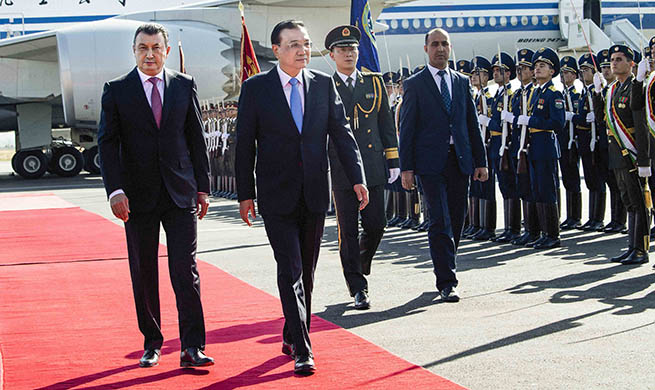 Chinese premier arrives in Tajikistan for SCO meeting, official visit