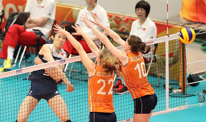 China beats Netherlands 3-0 in final 3-4 match at V'ball World Championship