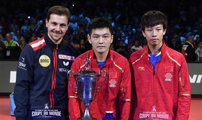 China's Fan claims title of 2018 ITTF Men's World Cup