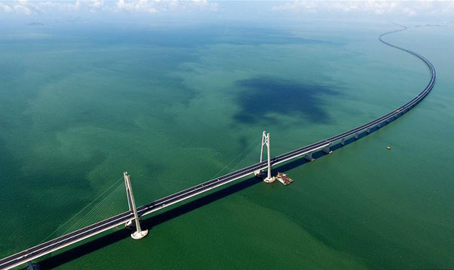 In pics: construction site of Hong Kong-Zhuhai-Macao Bridge