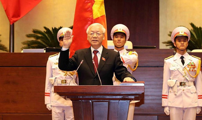 Vietnamese party chief elected country's president